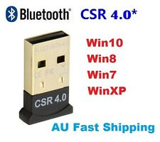 Mini USB 2.0 Bluetooth V4.0 Dongle Wireless Adapter For PC Laptop 3Mbps Speed AU
