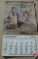 ANTIQUE 1904 INDIANAPOLIS BREWING CO COMPLETE CALENDAR GREAT GRAPHICS