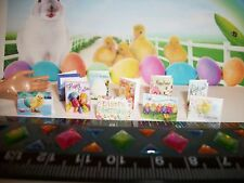 1:12 Scale New Set of 10 Dollhouse Miniature Handcrafted Easter Holiday Cards
