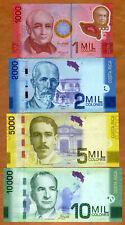 SET, Costa Rica, 1000;2000;5000;10000 Colones, 2009-2017 P-274-275-276-277 UNC