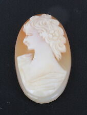 Left Facing 0526B Cameo Carved Shell Unmounted