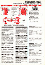 1964 1965 1966 1967 1968 INTERNATIONAL TRUCK A B C D SERIES LUBE TUNEUP CHART CC