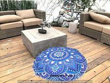 Mandala Floor Pillow Cover Decorative Round Cushion Case Handmade Seat Ottomans