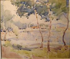 Signé H. LEBASQUE (1865-1937) : SUPERBE AQUARELLE , Bord de mer impressionniste
