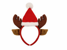CHRISTMAS REINDEER ANTLERS SANTA HAT HEADBAND XMAS HEAD BOPPER FANCYDRESS OUTFIT