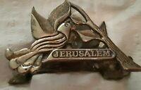 vintage brass dove Wainberg Jerusalem napkin holder