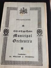 G7-1 Programme Sth Africa City Of Cape Town Municipal Orchestra June 18th 1944