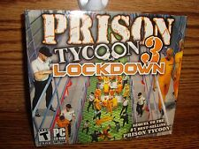 Prison Tycoon 3: Lockdown PC CD-ROM Software Game Microsoft Windows Rated T  NEW