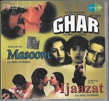 GHAR - MASOOM - IJAAZAT - NEW BOLLYWOOD 3 FILM SONGS IN ONE CD - FREE UK POST
