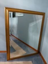 "Large Solid Wood ""35x45"" Rectangle Beveled Framed Wall Mirror $565"