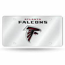 Atlanta Falcons NFL Mirrored Laser Cut License Plate Laser Tag