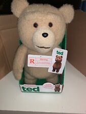 """NEW TED Movie Talking Bear 16"""" Moving Mouth R Rated Explicit 5 Phrases NIB Rare"""