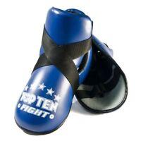 Top Ten Fight Kick Protectors Blue Foot Guards Pads Kickboxing Teakwondo Foot