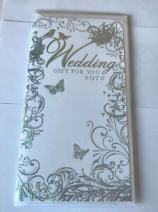 Wedding Day Open Gift Money Holder/wallet Card. Cell-Wrapped To Keep Clean