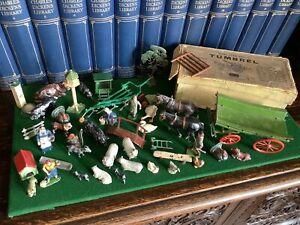 Britains Vintage Lead Farm Figures Accessories.