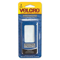 Velcro Industrial Strength Sticky-Back Hook and Loop Fastener Strips 4 x 2 White