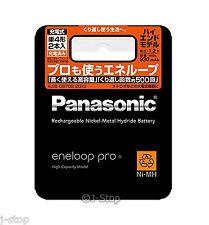 New! 2 Panasonic Eneloop Pro Rechargeable Batteries AAA High End Model 930 mAh