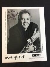 Herb Alpert Autographed 8x10 B&W Studio Photograph Guaranteed Authentic