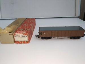 Märklin H0 331 Offener Güterwagen mit 4 Achsen, dunkelbraun aus Guss von 1952-55
