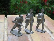 QUIRALU / BF / LR Lot trois soldats MARINS en plomb creux à restaurer