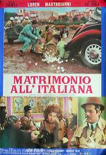 Marriage Italian Style Matrimonia All Italiana Sophia Loren Lancia Movie Poster