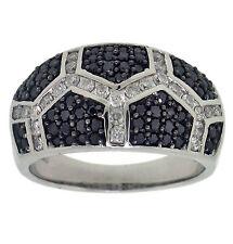 1.00ct Round & Black Diamond Right Hand Ring 14K Gold