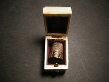 14KT Marked 1800s Thimble in Original Mother of Pearl Box, Beautiful, WOW