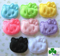 """100pc x 3/4"""" Mix Small Padded Felt Kitty Cat Appliques Baby Shower/Hello ST54M"""