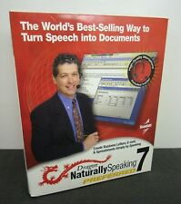 DRAGON NATURALLY SPEAKING 7 PREFERRED Software + Headset Microphone NEW Open Box