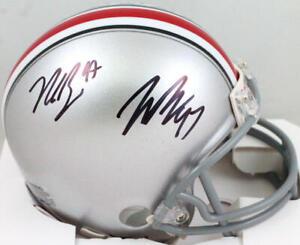 Joey Bosa/Nick Bosa Autographed Ohio State Buckeyes Mini Helmet- Beckett W *Blk