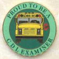 Exclusive, Proud To Be a School Bus CDL Examiner Lapel / Hat Pin