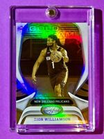 Zion Williamson NEW PANINI CERTIFIED REFRACTOR FINISH GOLD TEAM INSERT 2021 Mint