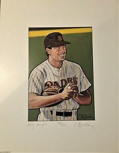 Mark Davis 1990 Bowman Craig Pursley Signed 11x14 Original Artist Proof RARE!