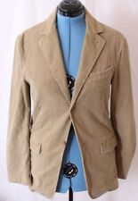 Armani Exchange AX Corduroy Khaki 2-Button Sport Coat Blazer Jacket Men's S