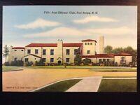 Vintage Postcard>1930-1945>Post Officer's Club>Fort Bragg>N.C.