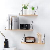Iron Wooden Storage Rack Room Sundries Hanger Wall Mounted Display Shelves Decor