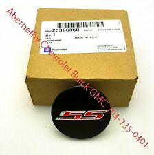 19351758 One Black GM Wheel Center Cap with Red SS Logo 2016-2017 Camaro GM OEM