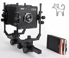 Cambo SCIIR 4x5 camera with Schneider 150mm F4.5 Lens + fresnel and holders EX+