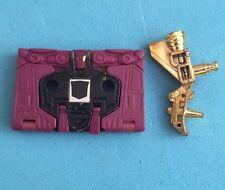 -- Transformers G1-Decepticon Cassette-Etiqueta Original Ratbat-Oro de la pistola..