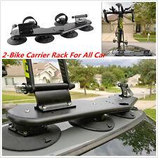 Mini Bomber 2-bike rack with standard 9mm fork mounts.+Two Rear Wheel Straps