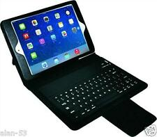 APPLE iPAD MINI KEYBOARD CASE ~ LIGHTLY USED W/ MICRO USB CABLE Leather GENERIC