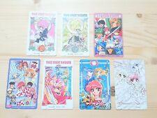 RARE CLAMP Magic Knight Rayearth 7 sheets set Phone card Japan Anime/851