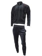 Fila Men's Velour Heather sweat suit tracksuit Black New With Tags Sz M L XL XXL
