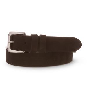 Men's Hackett, 30mm West End Suede Belt in Black