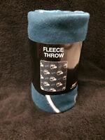 Philadelphia Eagles Philly Repeat Emblem NFL Football Fleece Throw Blanket NEW
