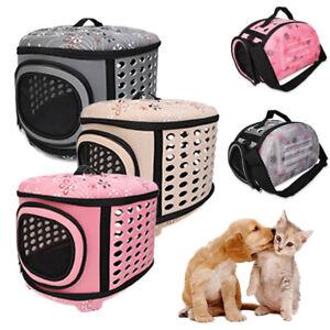 Pet Puppy Dog Cat Portable Travel Carrier Cage Folding Bag Kennel EVA Box Holder