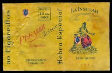 Philippines REGALIZ LA INSULAR Cigarette Label