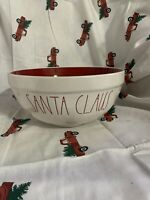 HTF Rae Dunn –Red Interior Santa Claus Large Mixing Bowl Christmas Xmas