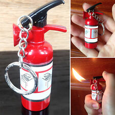 WELL Fire Extinguisher Shape Refillable Butane Gas Keychain Cigarette Lighters
