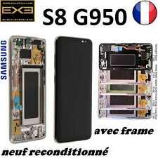 ECRAN LCD S8 G950F SAMSUNG GALAXY, AVEC CHASSIS NOIR ARGENT ROSE OR BLEU